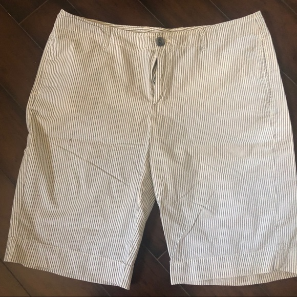 pinstripe shorts womens